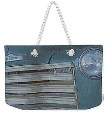 Weekender Tote Bag featuring the photograph Old Blue by Lynn Sprowl