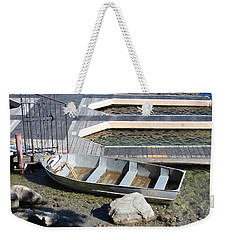 Old Boat And Dock Weekender Tote Bag
