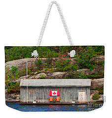 Old Boathouse With Two Muskoka Chairs Weekender Tote Bag