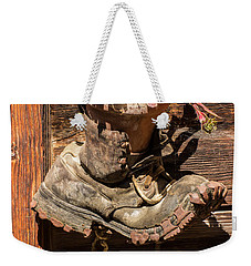 Old Boot Potted Plant - Swiss Alps Weekender Tote Bag