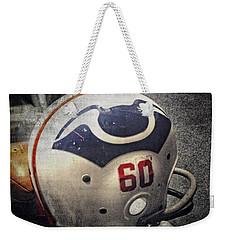Old Boston Patriots Football Helmet Weekender Tote Bag