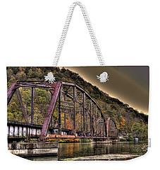 Old Bridge Over Lake Weekender Tote Bag by Jonny D