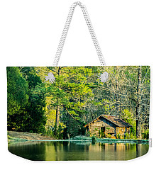 Old Cabin By The Pond Weekender Tote Bag