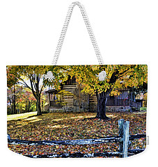 Old Cabin In Autumn Weekender Tote Bag by Kenny Francis