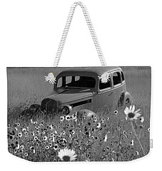 Weekender Tote Bag featuring the photograph Old Car by Leticia Latocki