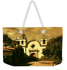 Old Carmel Mission - Watercolor Weekender Tote Bag