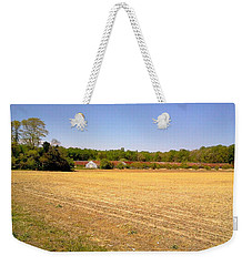 Old Chicken House On A Farm Field Weekender Tote Bag