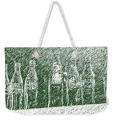 Weekender Tote Bag featuring the photograph Old Coke Bottles by Greg Reed