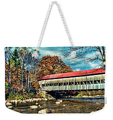 Old Covered Bridge Weekender Tote Bag by Kenny Francis