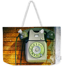 Old Dial Phone Weekender Tote Bag by Fabrizio Troiani