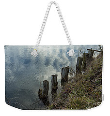 Old Dock Supports Along The Canal Bank - No 1 Weekender Tote Bag by Belinda Greb