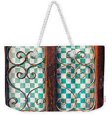 Weekender Tote Bag featuring the photograph Old Door by Silvia Ganora