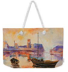 Old Dunbar Harbour Weekender Tote Bag