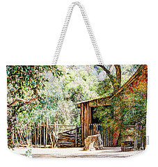 Old Farm Building Weekender Tote Bag