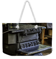 Old Farm Kitchen And Wood Burning Stove Weekender Tote Bag by Lynn Palmer