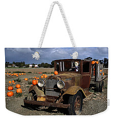Weekender Tote Bag featuring the photograph Old Farm Truck by Michael Gordon