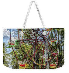 Weekender Tote Bag featuring the photograph Old Fashioned Ferris Wheel by The Art of Alice Terrill