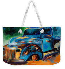 Old Ford In The Back Of The Field Weekender Tote Bag