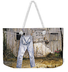 Weekender Tote Bag featuring the painting Old Friends by Michael Humphries