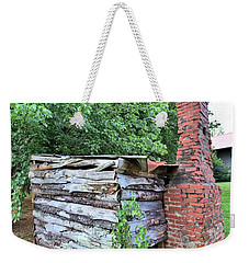 Weekender Tote Bag featuring the photograph Old Georgia Smokehouse by Gordon Elwell