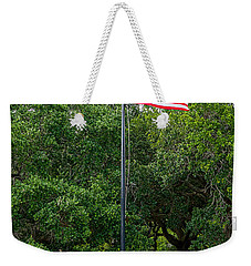 Weekender Tote Bag featuring the photograph Old Glory High And Proud by Sennie Pierson