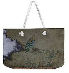 Old Glory Standoff Weekender Tote Bag by Wes and Dotty Weber