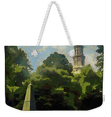 Weekender Tote Bag featuring the painting Old Granery Burying Ground by Jeff Kolker