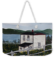 Weekender Tote Bag featuring the painting Old House - If Walls Could Talk by Barbara Griffin