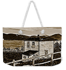Old House In Sepia Weekender Tote Bag
