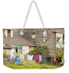 Old House With Laundry Weekender Tote Bag by Keith Webber Jr
