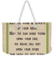 Old Irish Blessing Weekender Tote Bag