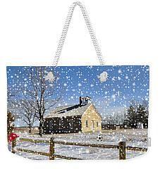 Weekender Tote Bag featuring the photograph Old Kansas Schoolhouse by Liane Wright
