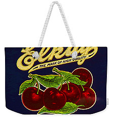 Cherries Antique Food Package Label Weekender Tote Bag