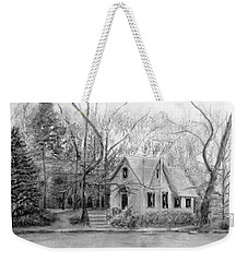 Old Library On Lake Afton - Winter Weekender Tote Bag