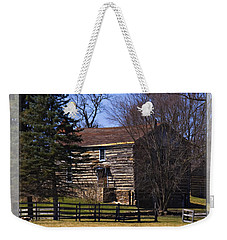 Old Log Home Weekender Tote Bag