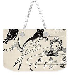 Old Man Kangaroo At Five Weekender Tote Bag by Rudyard Kipling