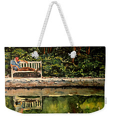 Old Man On A Bench Weekender Tote Bag