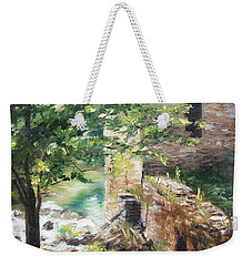 Weekender Tote Bag featuring the painting Old Mill Stream I by Lori Brackett