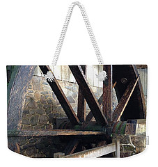 Weekender Tote Bag featuring the photograph Old Mill Water Wheel by Jeannie Rhode