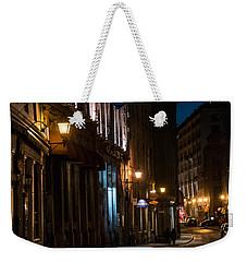 Old Montreal At Night Weekender Tote Bag by Cheryl Baxter