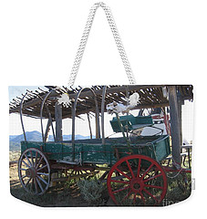 Weekender Tote Bag featuring the photograph Old Native American Wagon by Dora Sofia Caputo Photographic Art and Design