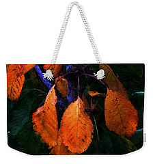 Old Orange Leaves Weekender Tote Bag