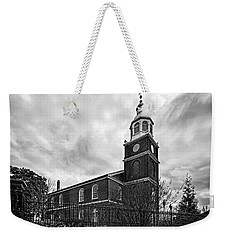 Old Otterbein Church In Black And White Weekender Tote Bag