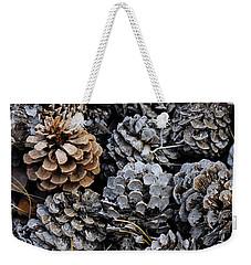 Old Pinecones Weekender Tote Bag by Kae Cheatham
