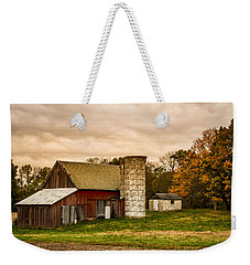 Old Red Barn And Silo Weekender Tote Bag