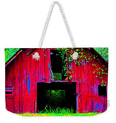 Old Red Barn Iv Weekender Tote Bag by Lanita Williams