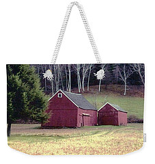 Old Red Barn Weekender Tote Bag