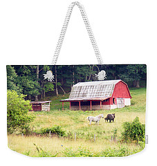 Old Red Barn West Of Brevard Nc Weekender Tote Bag
