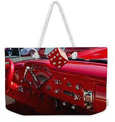 Old Red Chevy Dash Weekender Tote Bag by Tikvah's Hope