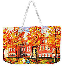 Old Saint Mary's High School In Fall Weekender Tote Bag by Rita Brown